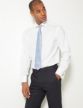 Pure Cotton Non-Iron Regular Fit Shirt, WHITE, catlanding