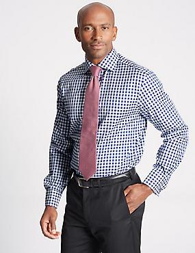 Pure Cotton Easy to Iron Regular Fit Shirt, MIDNIGHT MIX, catlanding
