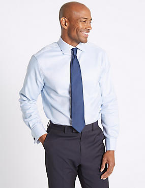Pure Cotton Easy to Iron Regular Fit Shirt, BLUE MIX, catlanding