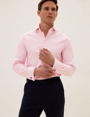 Slim Fit Cotton Twill Stretch Shirt