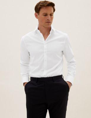 Slim Fit Cotton Stretch Oxford Shirt