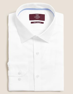 Tailored Fit Cotton Stretch Oxford Shirt
