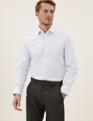 Tailored Fit Cotton Striped Shirt