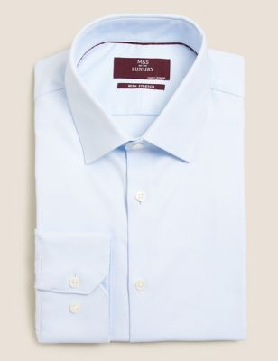 Regular Fit Cotton Stretch Twill Shirt