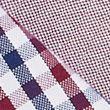 2 Pack Regular Fit Cotton Oxford Shirts - burgundymix