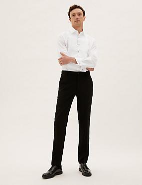 Easy to Iron Tailored Fit Dinner Shirt, WHITE, catlanding