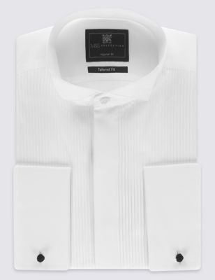 Tailored Fit Pure Cotton Dinner Shirt
