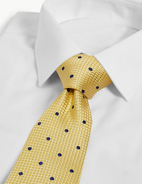 Pure Silk Slim Spot Tie