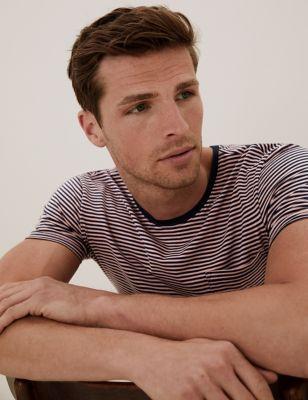 Premium Cotton Striped T-Shirt Vest