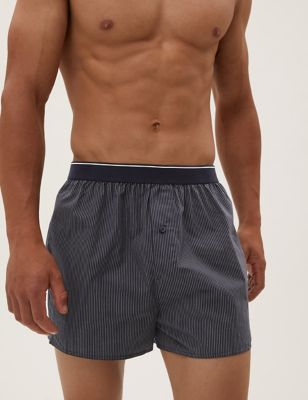 3pk Pure Cotton StayNew™ Woven Boxers