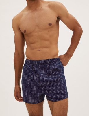 3pk Pure Cotton Checked Woven Boxers