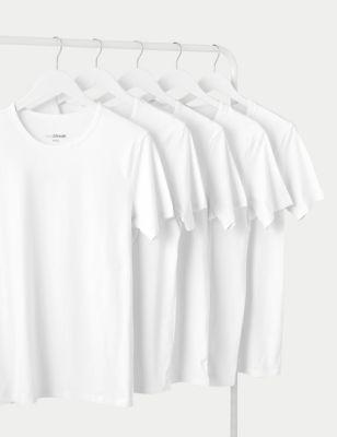 5pk Cotton Cool & Fresh™ T-Shirt Vests