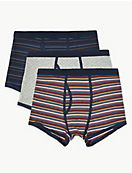 3 Pack Cool & Fresh™ Print Stretch Trunks