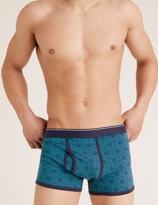 3 Pack Cotton Stretch Cool & Fresh™ Trunks