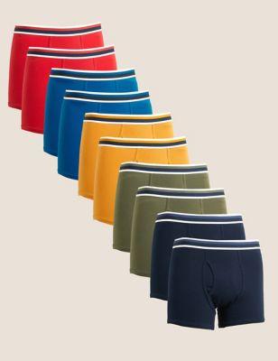 10pk Cotton Stretch Cool & Fresh™ Trunks