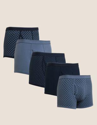 5pk Cotton Stretch Cool & Fresh™ Trunks