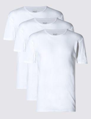 3pk Pure Cotton T-Shirt Vests