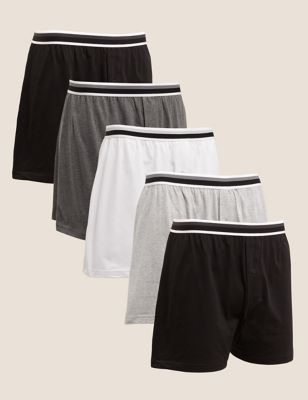 5 Pack Pure Cotton Jersey Boxers