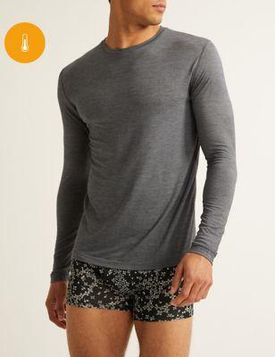 Light Warmth Wool Long Sleeve Thermal Top