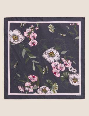 Pure Silk Floral Pocket Square