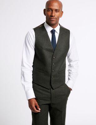 Dark Green Tailored Fit Tailored Waistcoat