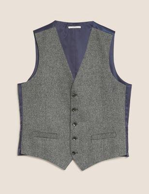 Tailored Fit Italian Wool Waistcoat