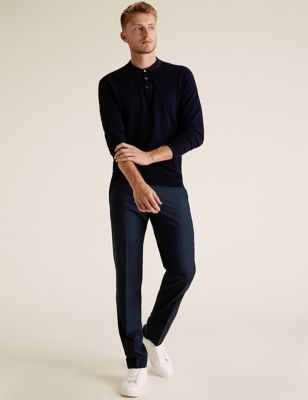 Slim Fit Trousers with Stretch