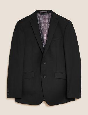 Black Slim Fit Jacket with Stretch