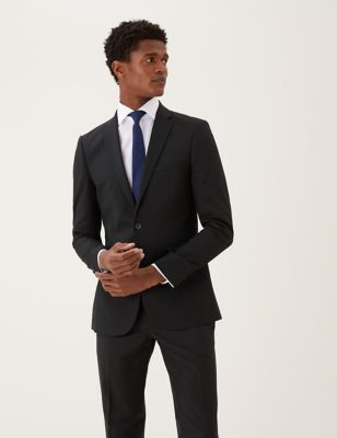 Black Skinny Fit Jacket with Stretch