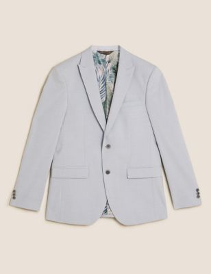 Pastel Slim Fit Jacket with Stretch
