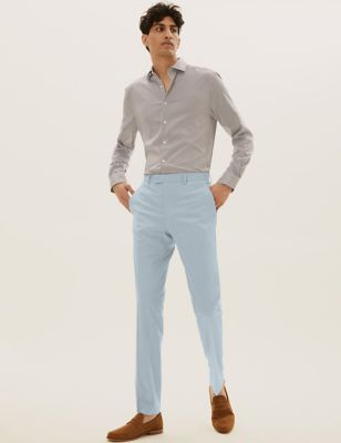 Pastel Slim Fit Trousers with Stretch