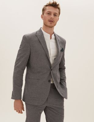 Grey Slim Fit Jacket
