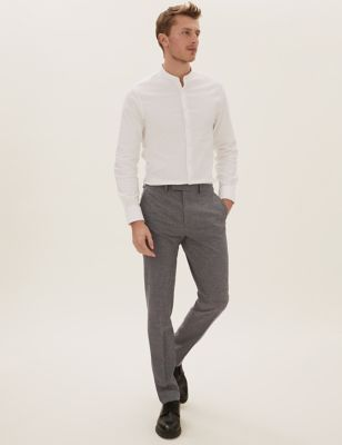 Grey Slim Fit Trousers