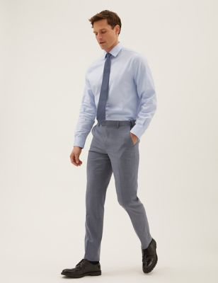 The Ultimate Blue Tailored Fit Trousers