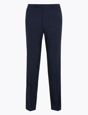 Ultimate Navy Slim Fit Pinstripe Trousers