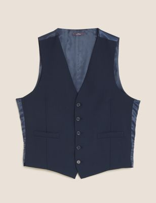 The Ultimate Navy Slim Fit Waistcoat with Stretch