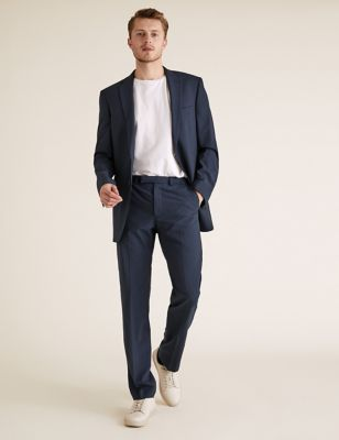 Big & Tall The Ultimate Navy Regular Fit Wool Trousers