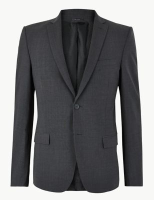 The Ultimate Charcoal Slim Fit Jacket