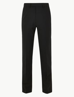 Big & Tall Black Regular Fit Trousers