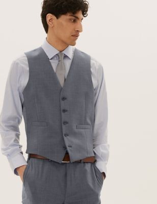 The Ultimate Grey Slim Fit Waistcoat with Stretch