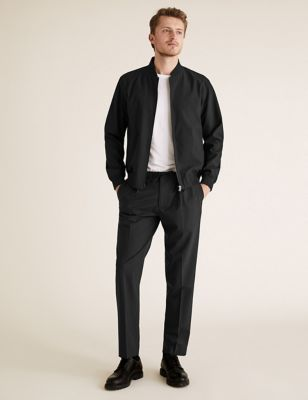 The Ultimate Black Slim Fit Wool Trousers