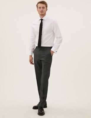 Tailored Wool Puppytooth Trousers