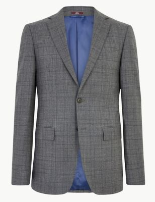 Charcoal Checked Wool Jacket