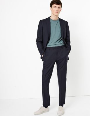 Big & Tall Navy Regular Fit Wool Jacket