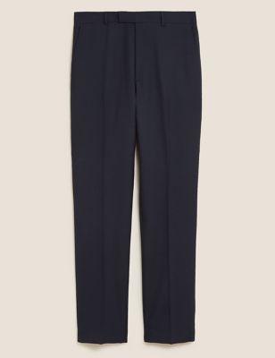 Big & Tall Navy Regular Fit Wool Trousers