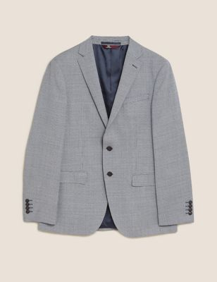 Tailored Wool Check Jacket