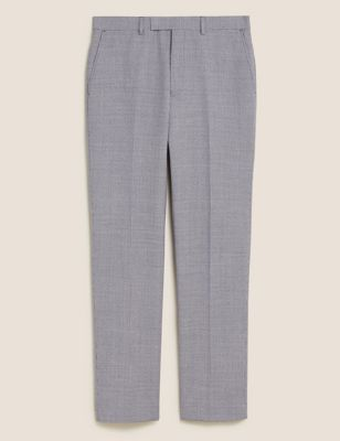 Tailored Wool Check Trousers