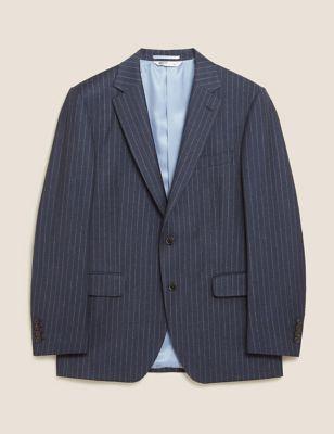 Tailored Fit Pure Wool Chalk Stripe Jacket