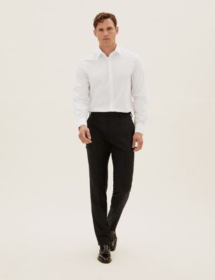 Tailored Fit Wool Trousers