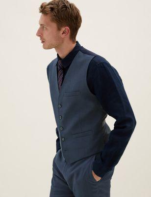 Tailored Fit Italian Linen Miracle™ Waistcoat